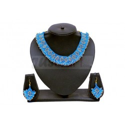 Sky Blue Beaded Jewellery