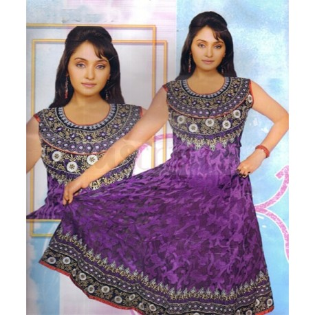 Kaaya Textile Multicolor Anarkali(H1392)